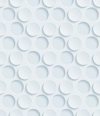 Dots Hexagonal 3D Seamless Wallpaper Pattern.