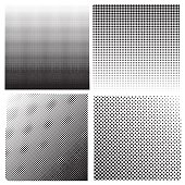 Dots on White Background. Halftone Texture