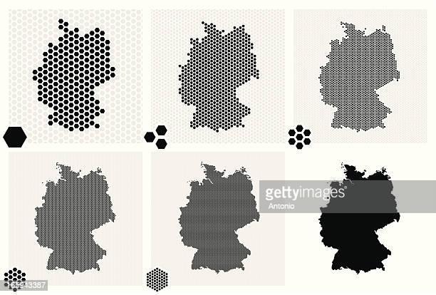 Pois cartes d'Allemagne dans différentes résolutions