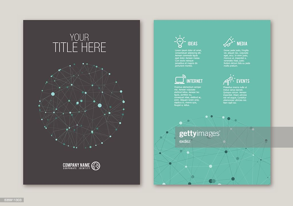 Dotted Portfolio design : Vector Art