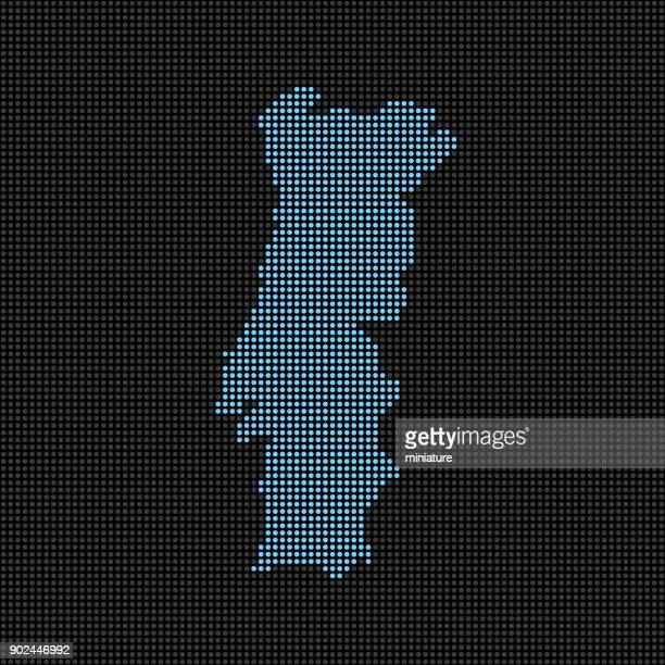 gepunktete portugal karte - portugal stock-grafiken, -clipart, -cartoons und -symbole