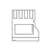 dotted shape micro sd memory data technology
