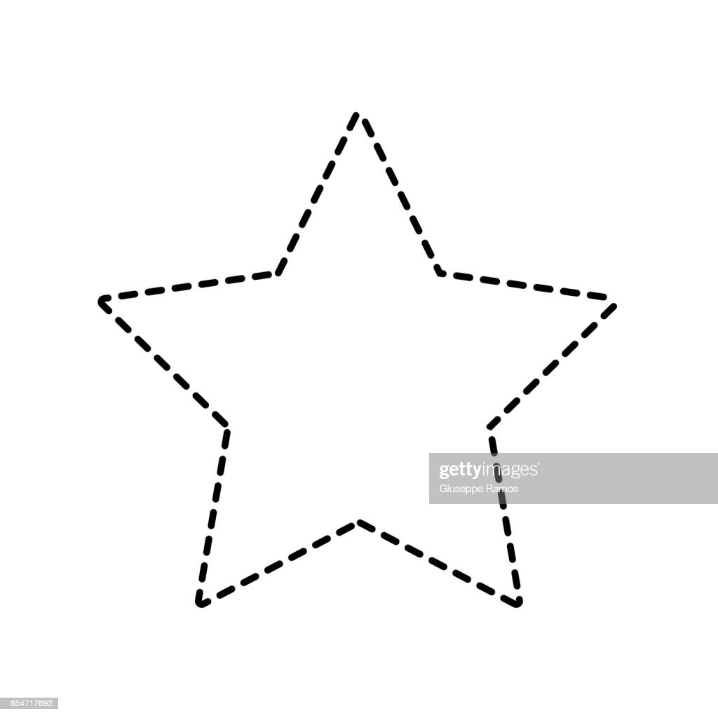 Dotted Shape Rating Star Symbol And Element Status Vector Art