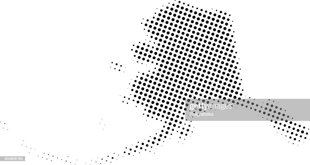 Dotted Vector Map Of Alaska Vector Art   Getty Images