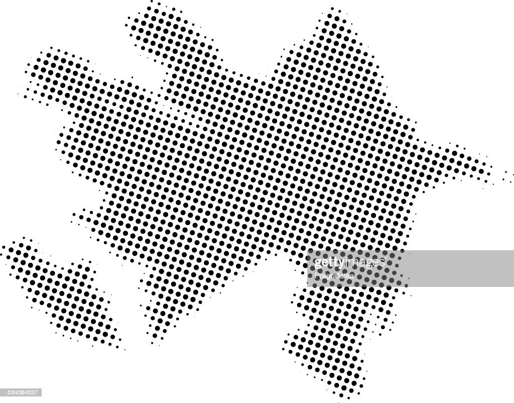 Dotted Vector Map Of Azerbaijan stock vector - Getty Images