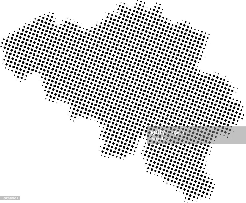 Dotted Vector Map Of Belgium Vector Art | Getty Images