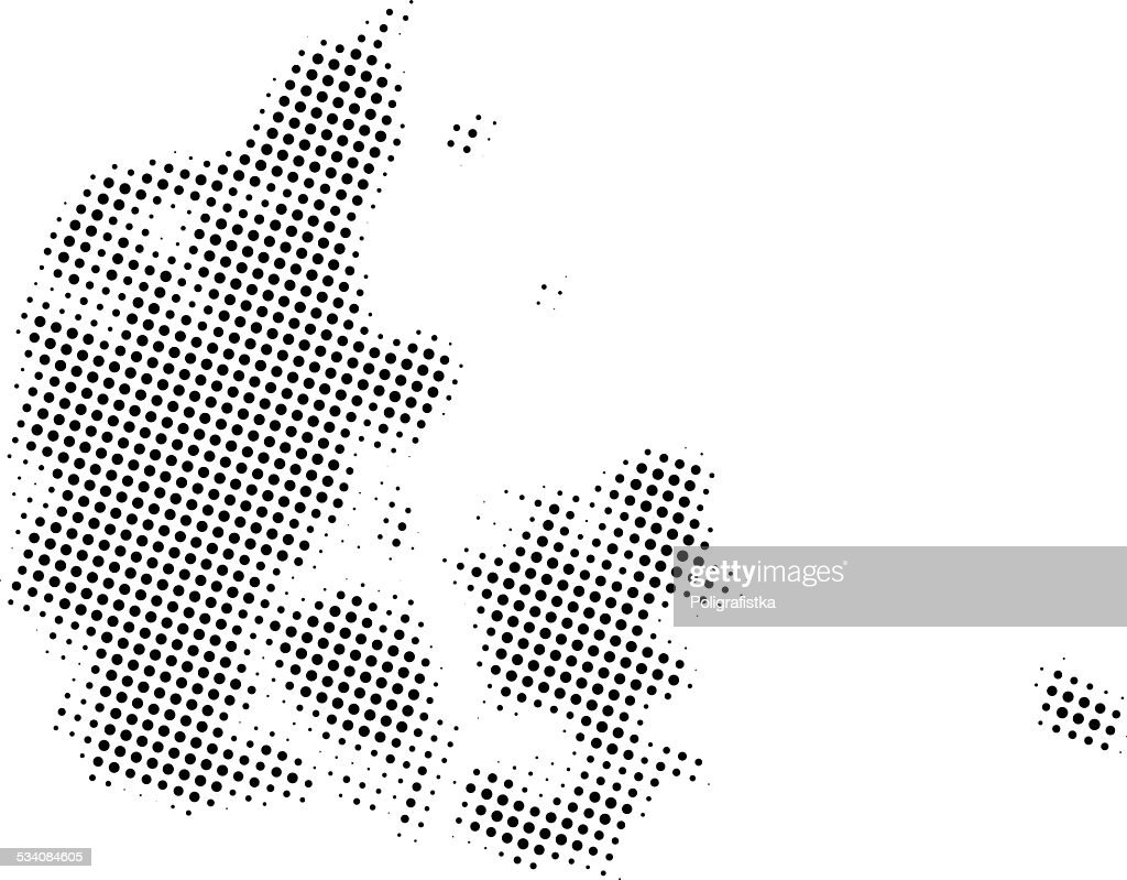 Dotted Vector Map Of Denmark Vector Art   Getty Images