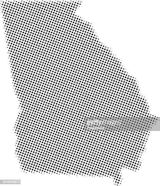 dotted vector map of georgia - georgia us state stock illustrations, clip art, cartoons, & icons