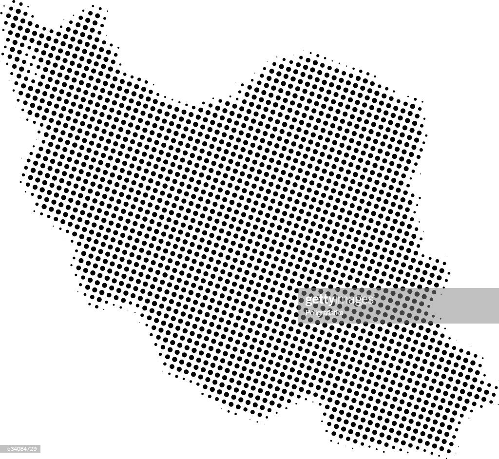 Dotted Vector Map Of Iran High-Res Vector Graphic - Getty Images