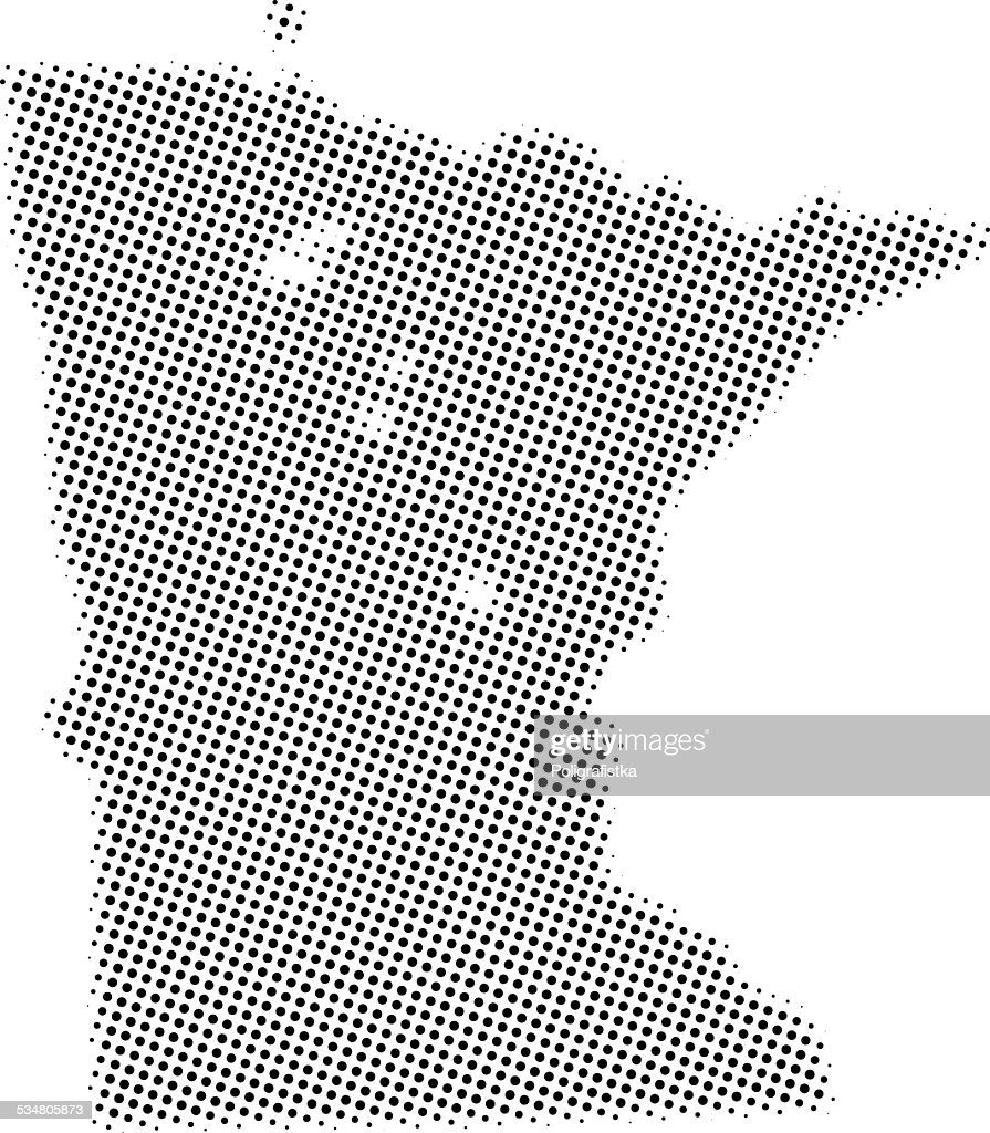 Dotted Vector Map Of Minnesota Vector Art   Getty Images