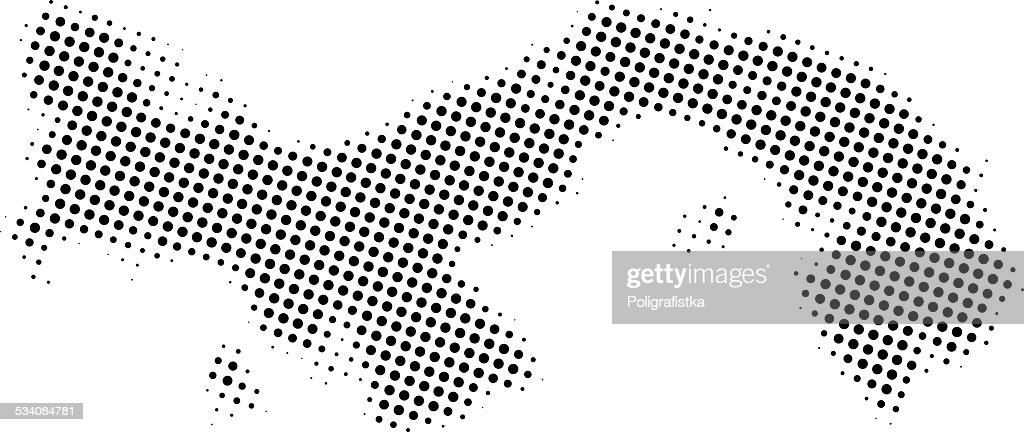 Dotted Vector Map Of Panama Vector Art Getty Images - Panama map vector