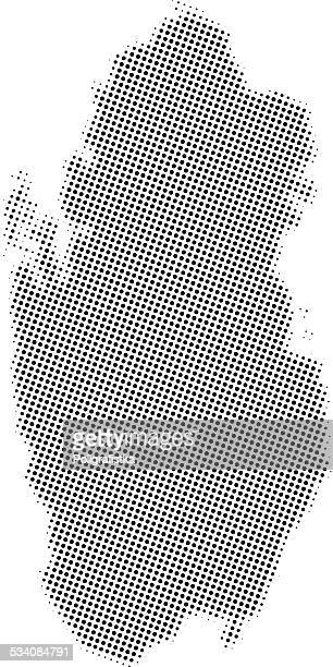 dotted vector map of qatar - qatar stock illustrations, clip art, cartoons, & icons