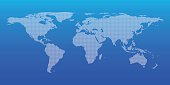 Dotted world map for global business background, Vector
