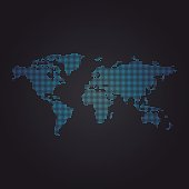 Dotted World Map Vector Design