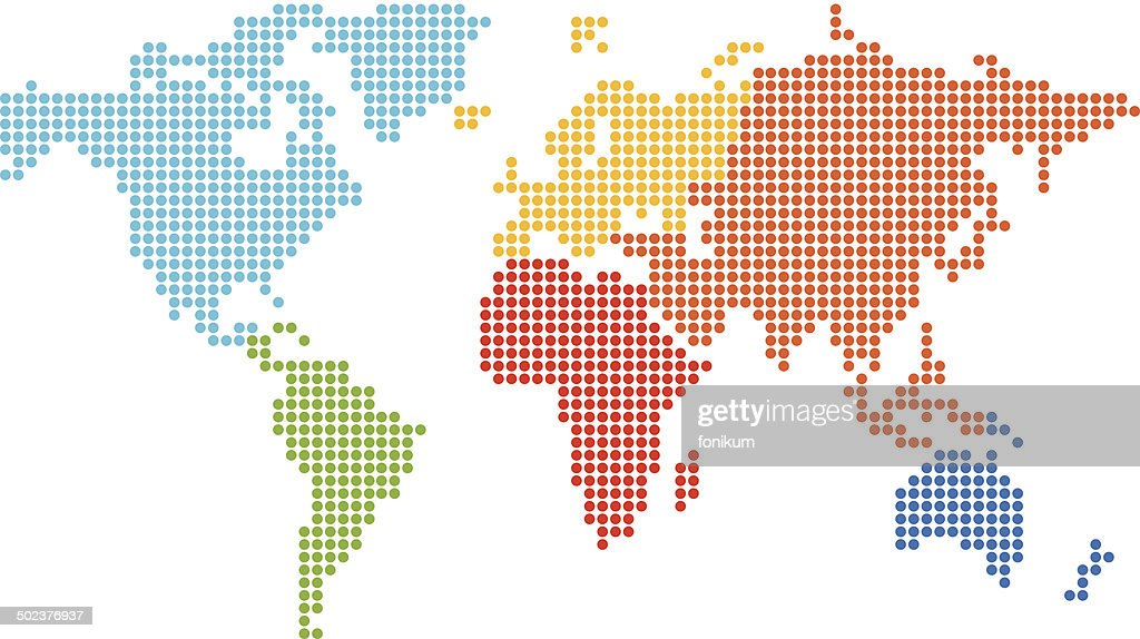Dotted world map vector art getty images dotted world map gumiabroncs Images