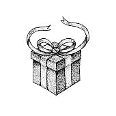 Dotwork Gift Box