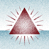 Dotwork raster triangle with rays