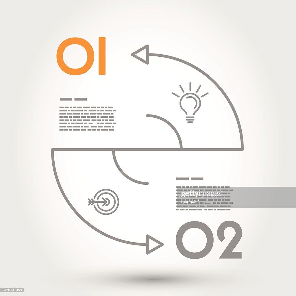 double arc infographic concept