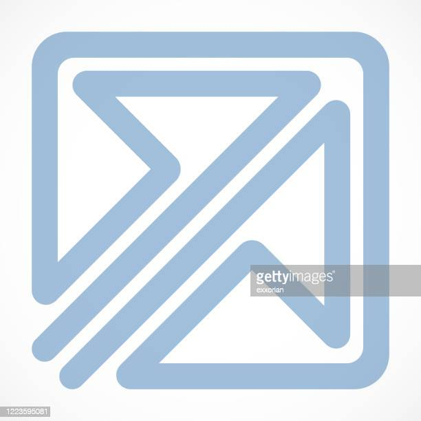 double arrow in the square icon - entering stock illustrations