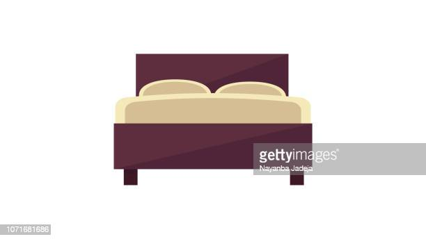 double bed icon - bed stock illustrations
