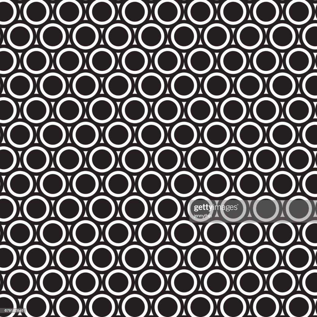 double black circle pattern background