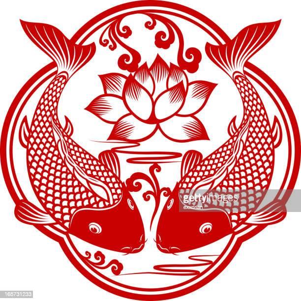 Illustrations et dessins anim s de carpe getty images for Carpe chinoise prix