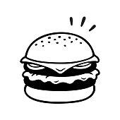 Double cheeseburger drawing