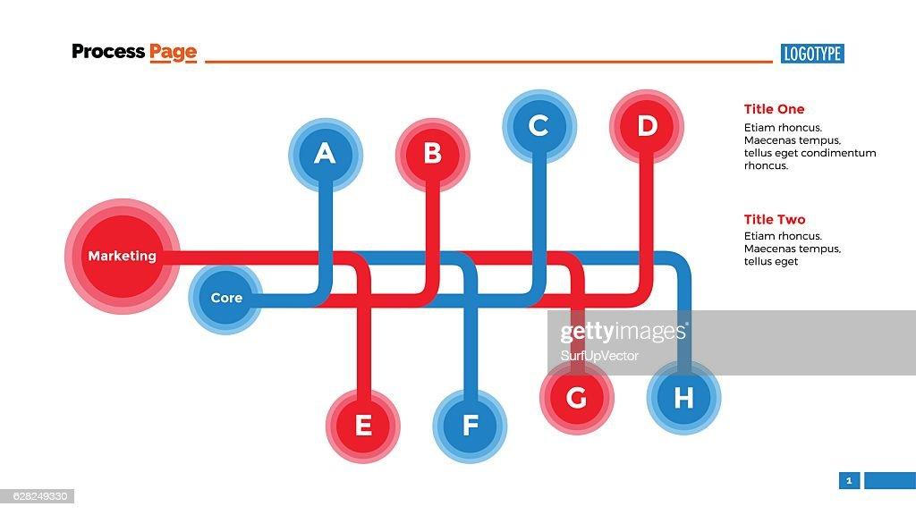 Double Flowchart Plan Slide Template Stock Illustration