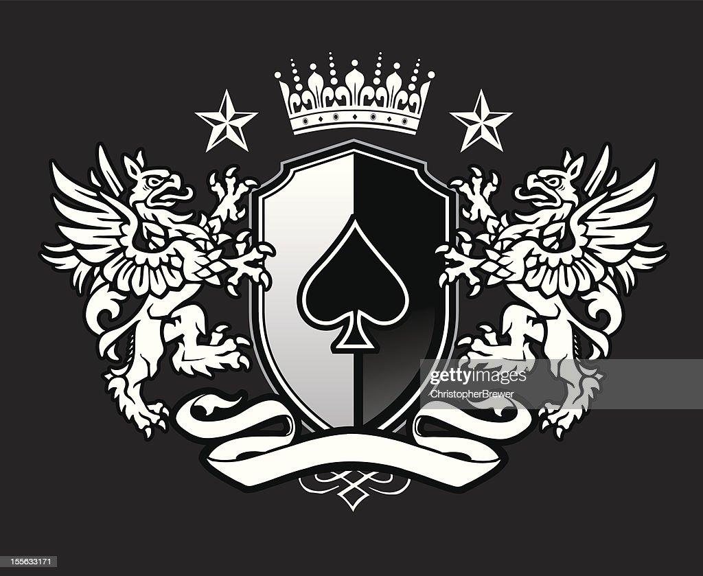 Double Griffin Shield Crest