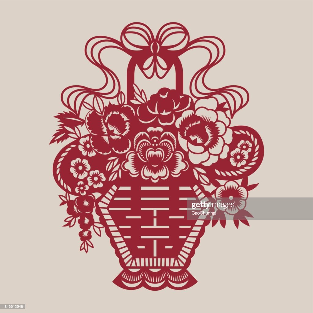 Double Happiness(Chinese traditional paper-cut art)-11