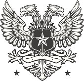 Double Headed Eagle crest on white