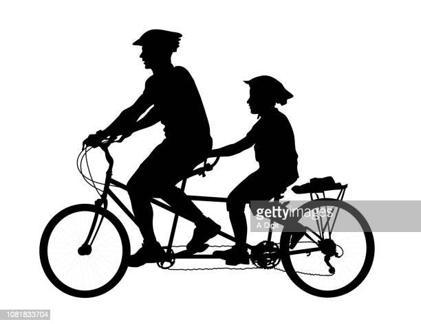 Double Seat Dad And Son Bicycle