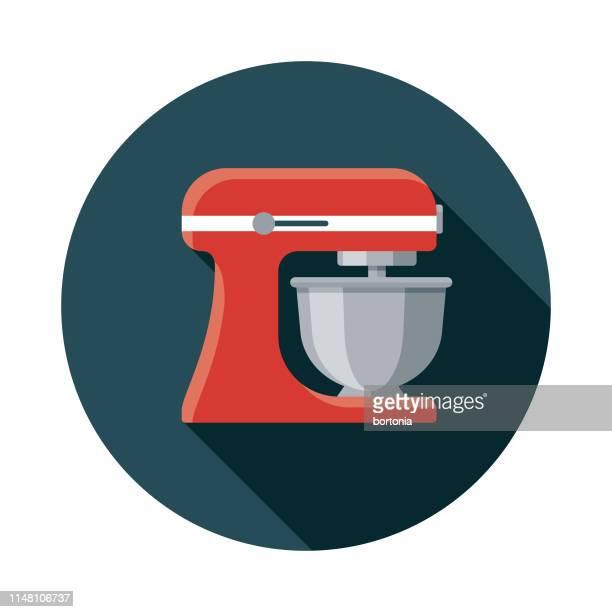 dough mixer pizza icon - electric mixer stock illustrations