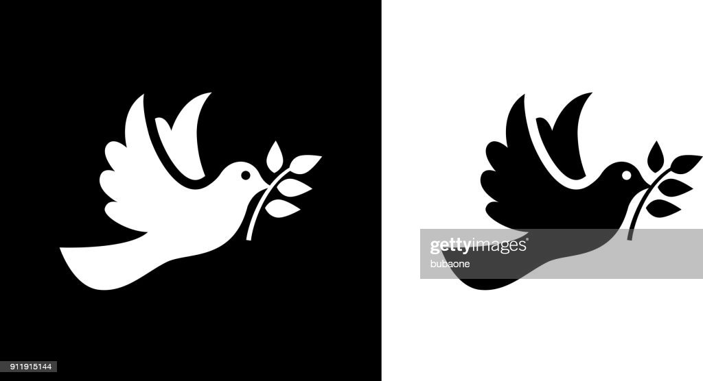 Dove Bird  Symbol Of Peace. : Stock Illustration