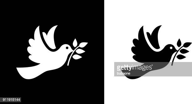 dove bird  symbol of peace. - peace stock illustrations, clip art, cartoons, & icons