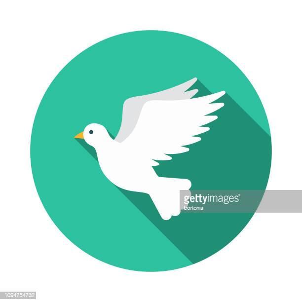 illustrations, cliparts, dessins animés et icônes de icône de christian colombe - colombe