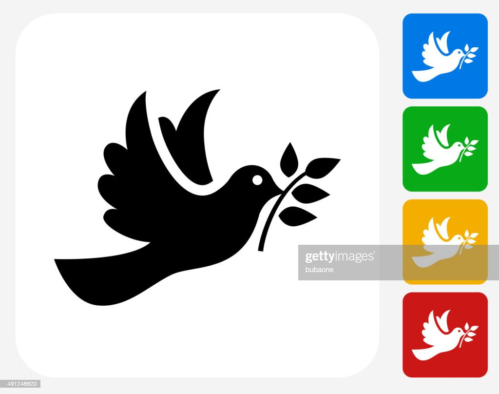 Dove Icon Flat Graphic Design