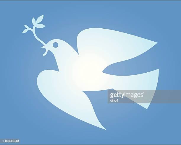 dove of peace - dove bird stock illustrations