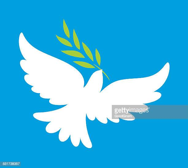 dove of peace - peace stock illustrations, clip art, cartoons, & icons