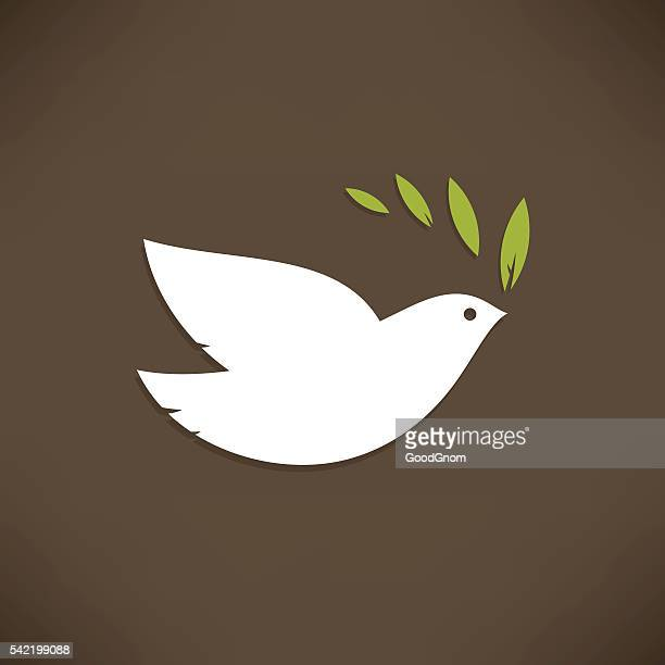 dove of peace - peace sign stock illustrations, clip art, cartoons, & icons