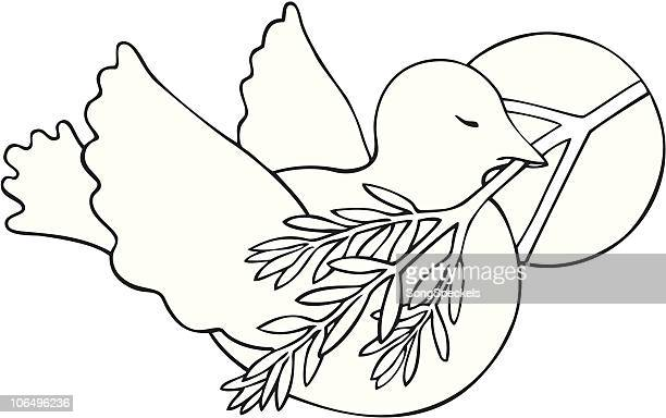 dove with peace symbol and olive branch - {{relatedsearchurl('racing')}} stock illustrations, clip art, cartoons, & icons