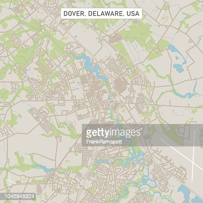 Dover Delaware Us City Street Map stock illustration - Getty Images