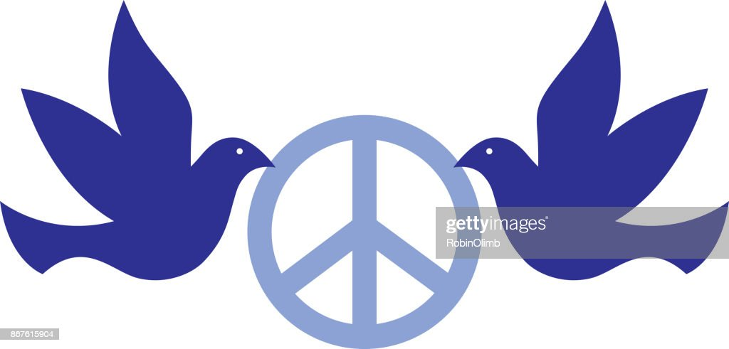 Doves Holding Peace Sign