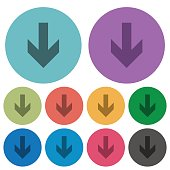 Down arrow color flat icons