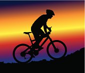 downhill mountain biking - background