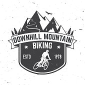 Downhill mountain biking. Vector illustration