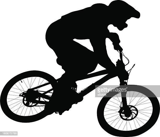 ilustrações de stock, clip art, desenhos animados e ícones de downhill - mountain bike