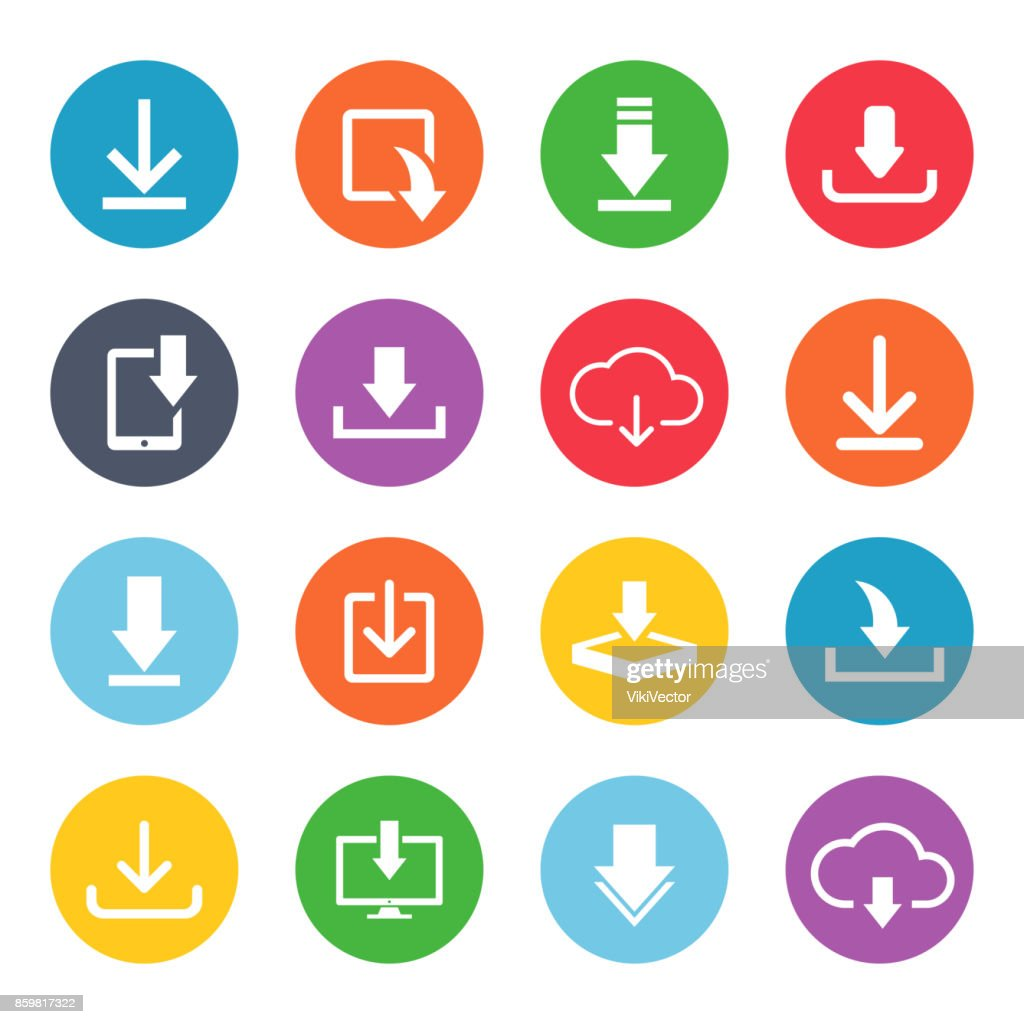 Download button icon set