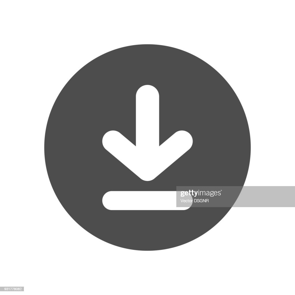 Download button. Vector icon