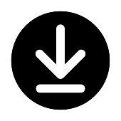 Download Button White On Black